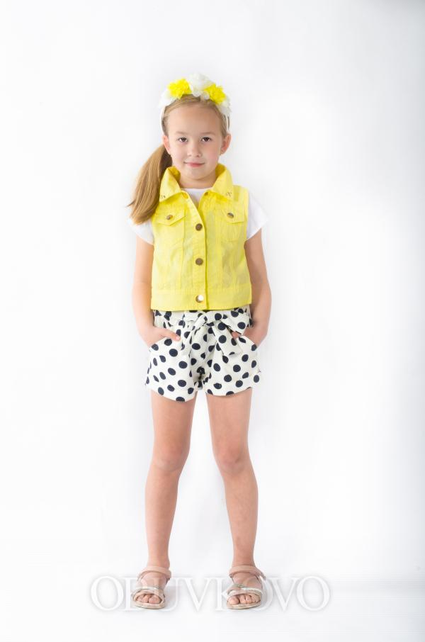 Dievčenská vesta žltá MM 207 yellow