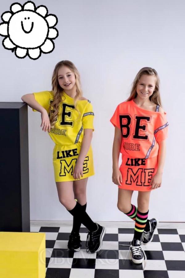 Dievčenská letné šaty MM 529 neon orange