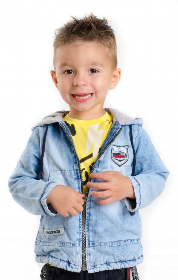 Ľahká letná  rifľová bunda s kapuňou MM 271 jeans