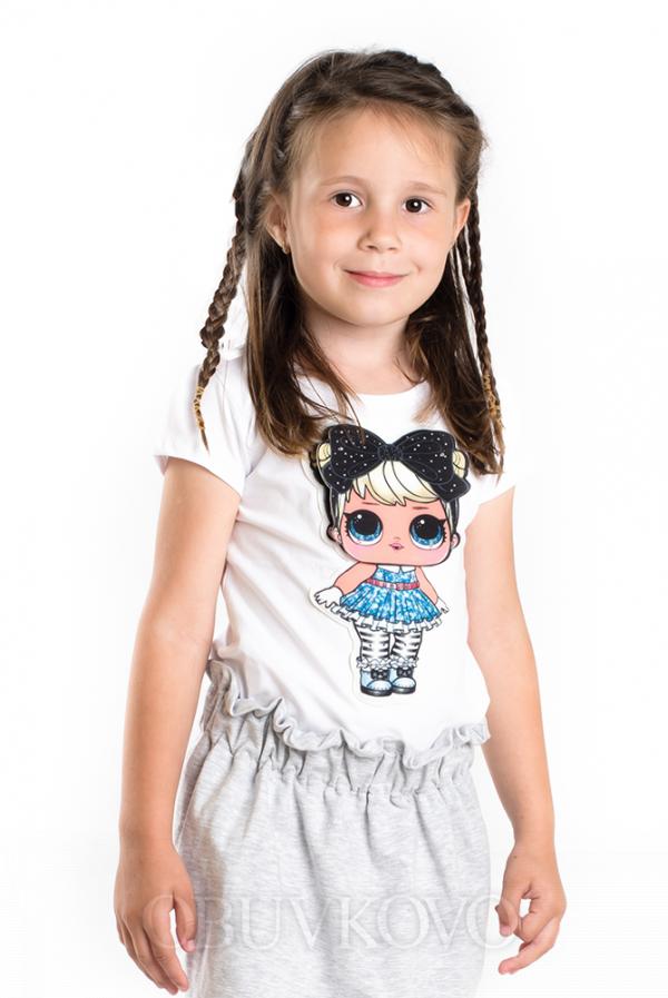 Dievčenská bavlnená sukňa M 521 grey