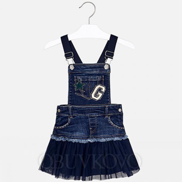 Dievčenská sukňa na traky MAYORAL 4913-023 navy