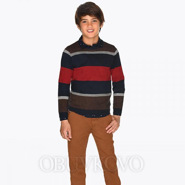 Hnedé chlapčenské nohavice MAYORAL 7513-023 Bronze