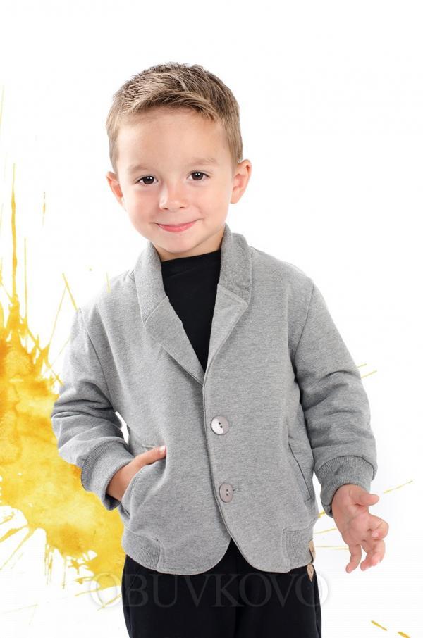 Bavlnené chlapčenské sako-kabátik MM 273 grey