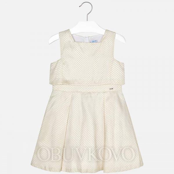 Spoločenské dievčenské šaty MAYORAL 6916-056 Natural