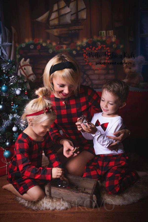 Chlapčenský bavlnený vianočný set MAMA SYN