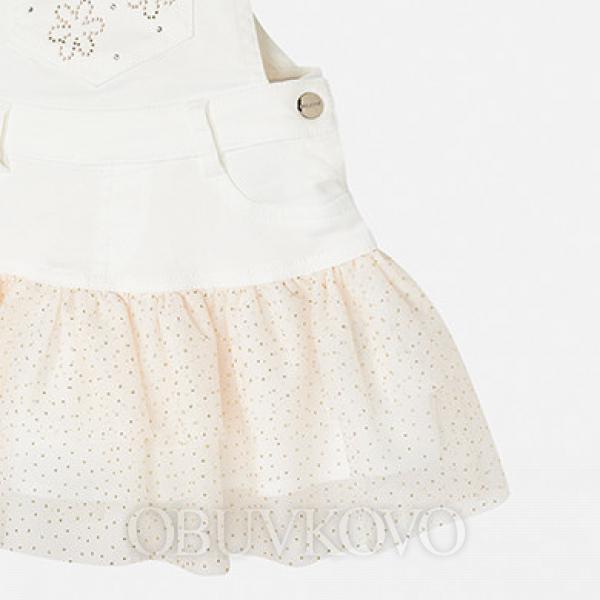 Dievčenská traková sukňa s tylom MAYORAL