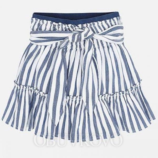 MAYORAL bielomodrá pásikavá sukňa