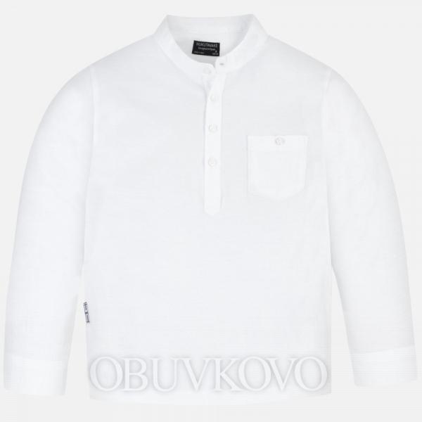 MAYORAL chlapčenská košeľa so stojačikom 06073-074 white