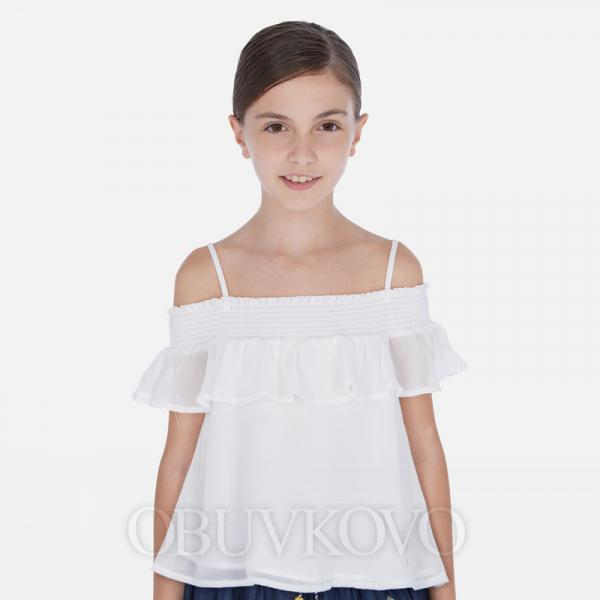 MAYORAL letný dievčenský top 06164-011 white