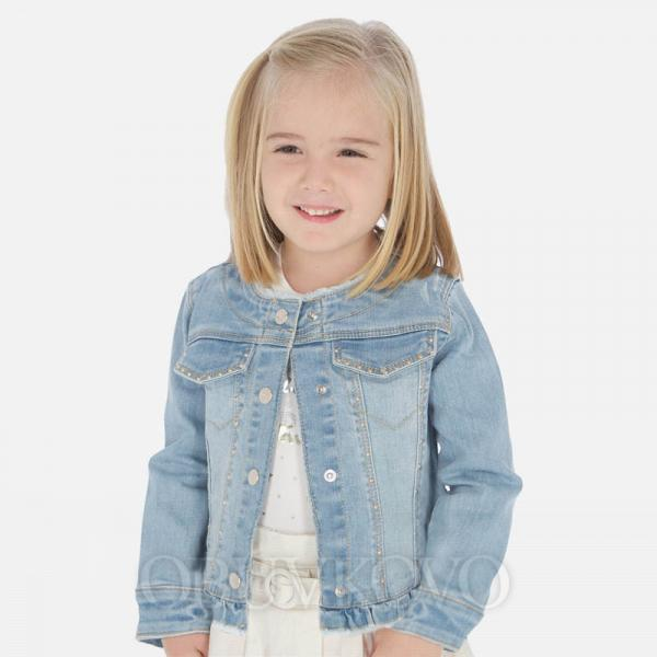 MAYORAL dievčenský rifľový kabát 3467-094 bleached