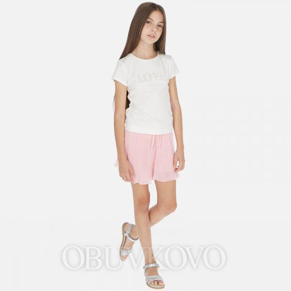 MAYORAL skladaná dievčenská sukňa 06957-022 pink