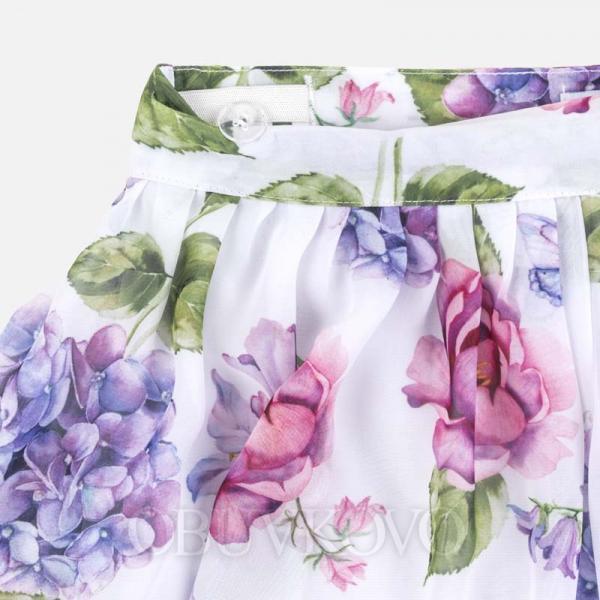 MAYORAL ľahké kvetované dievčenské šortky 06954-068