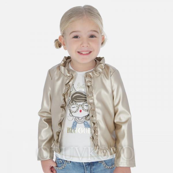 MAYORAL dievčenský kožený kabát 3464-019 gold