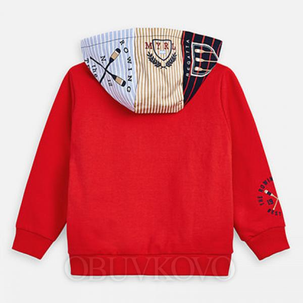 MAYORAL červená chlapčenská mikina 3449-033