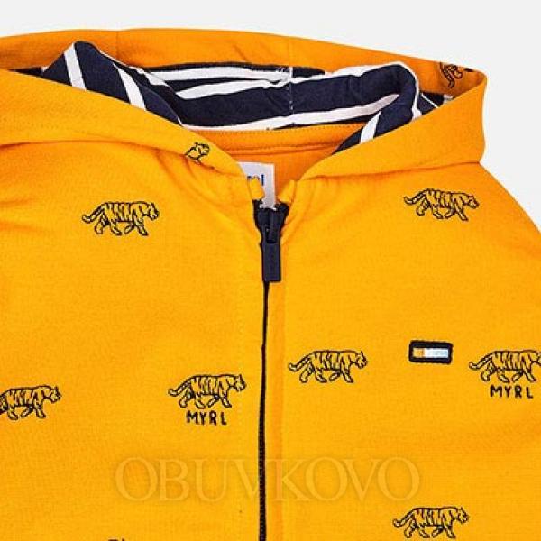 MAYORAL oranžová chlapčenská mikina 3446-010