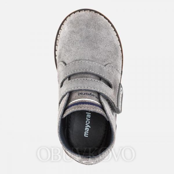 MAYORAL chlapčenská obuv z brúsenej kože  42058-077 gray
