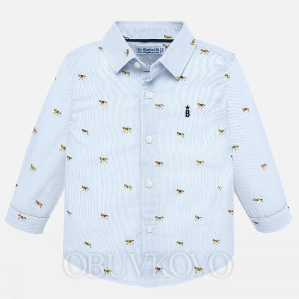 MAYORAL chlapčenská košeľa koník 2115-040 light blue