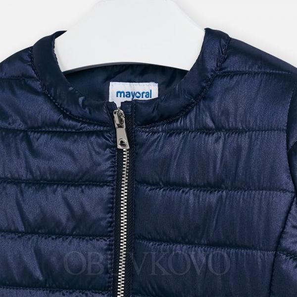 MAYORAL modrý prechodný dievčenský kabát 3470-048 navy