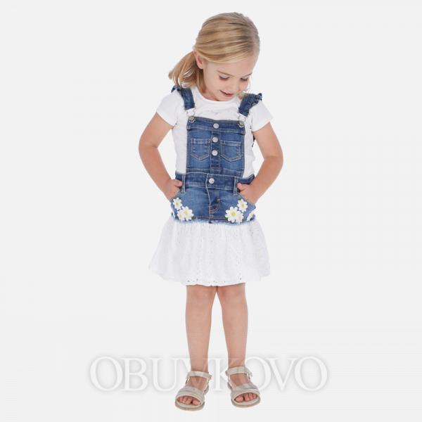 MAYORAL kombinovaná sukňa na traky 3909-005 denim