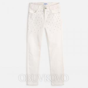 MAYORAL dievčenské nohavice s kamienkami 06532-072 natural