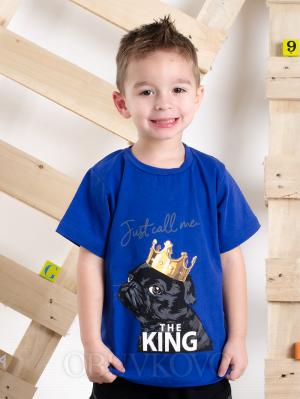 Chlapčenské tričko s krátky rukávom KING modré MM 337 king blue