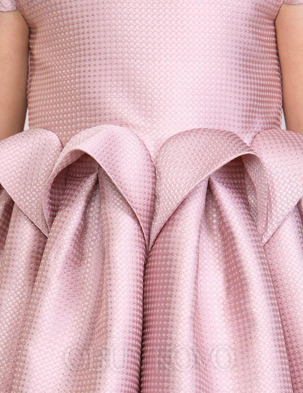 Ružové exkluzívne dievčenské šaty ABEL&LULA 5517-027