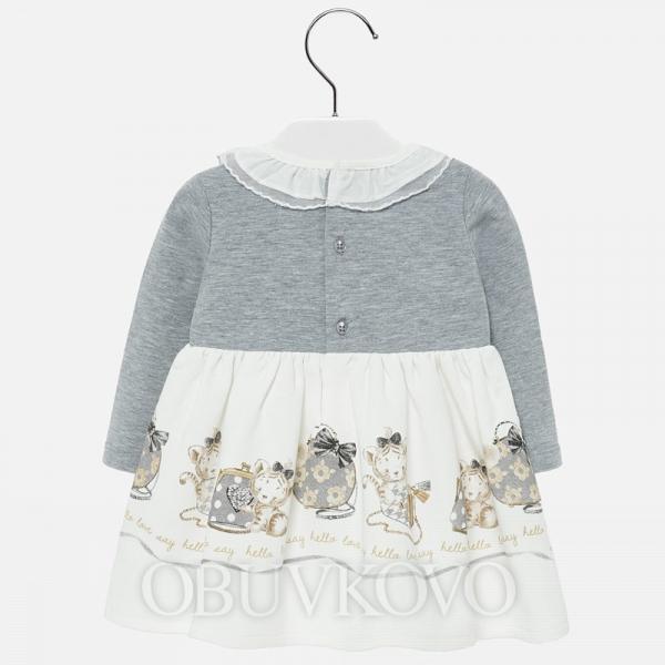 MAYORAL dievčenské šaty 2913-028 grey