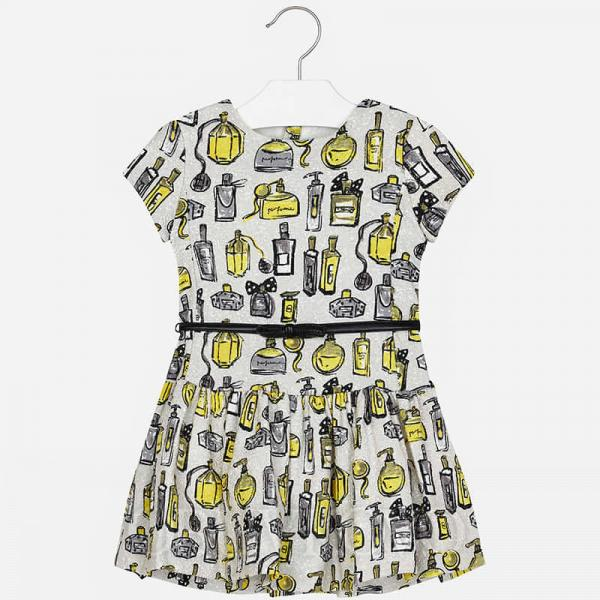 Dievčenské šaty vzorované MAYORAL 4928-051grey