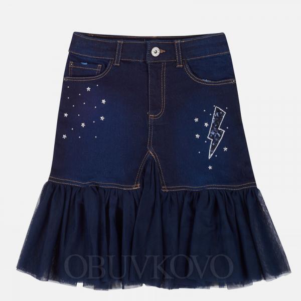 Rifľová sukňa s tylovým volánikom MAYORAL 7910-066