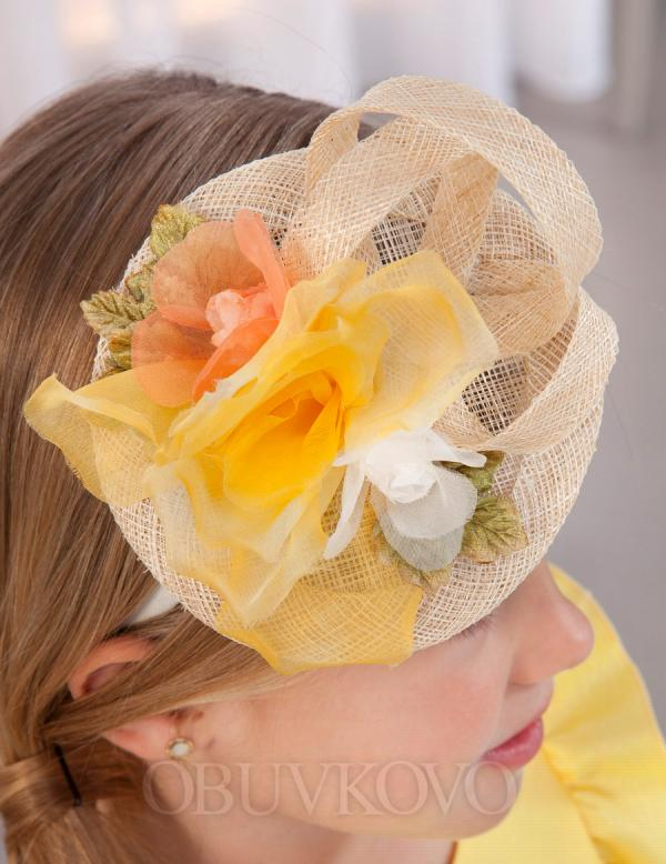 ABEL&LULA čelenka - mini klobúk 5427-053 Yellow