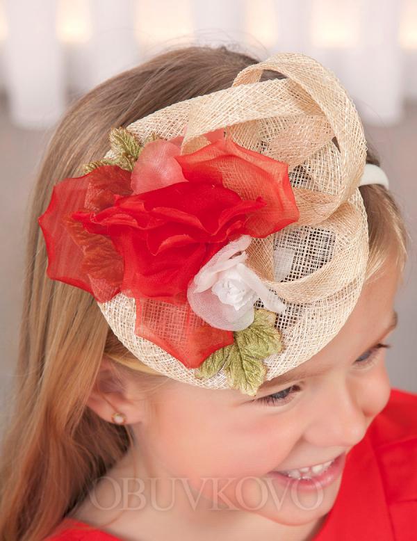 ABEL&LULA čelenka - mini klobúk 5427-052 Red