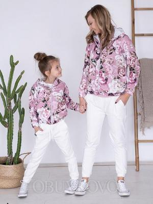 Prechodný kvetovaný kabát MAMA&DCÉRA