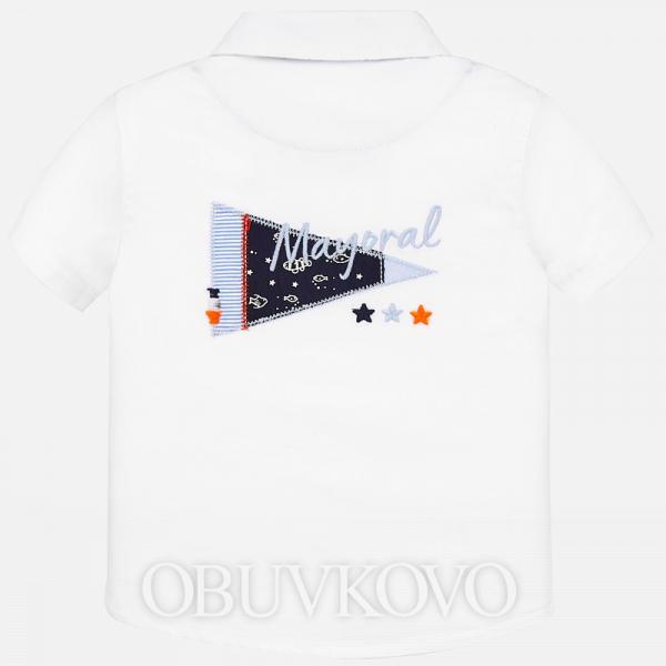 MAYORAL chlapčenská košeľa 1160-086 white