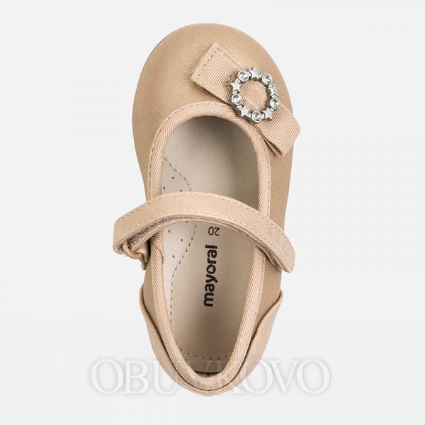 MAYORAL perleťové balerínky 41148-078 Nude