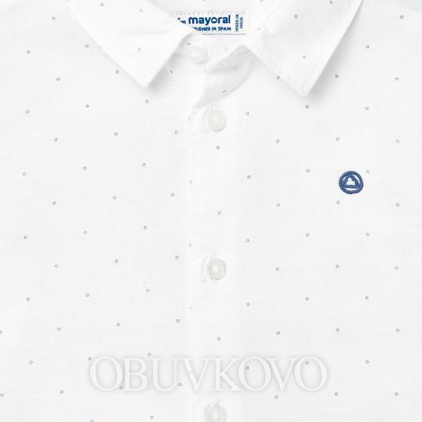 MAYORAL biela chlapčenská košeľa 117-082