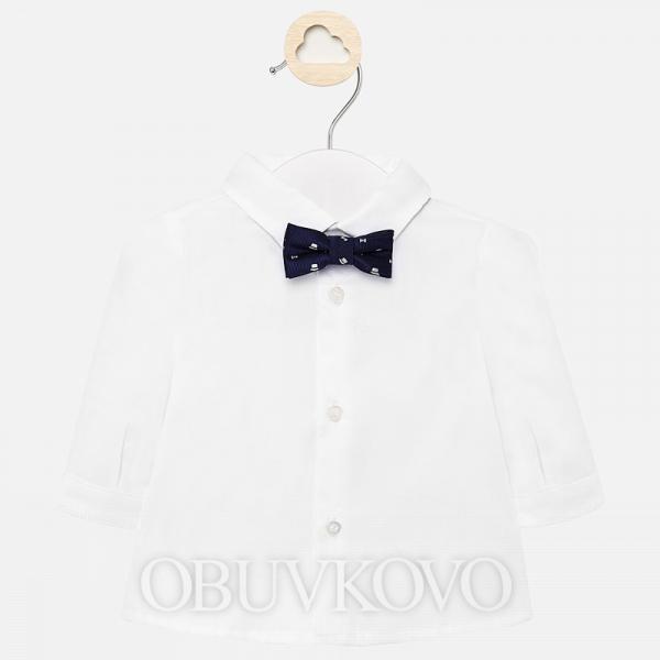 MAYORAL biela chlapčenská košeľa s motýlikom 1142-032