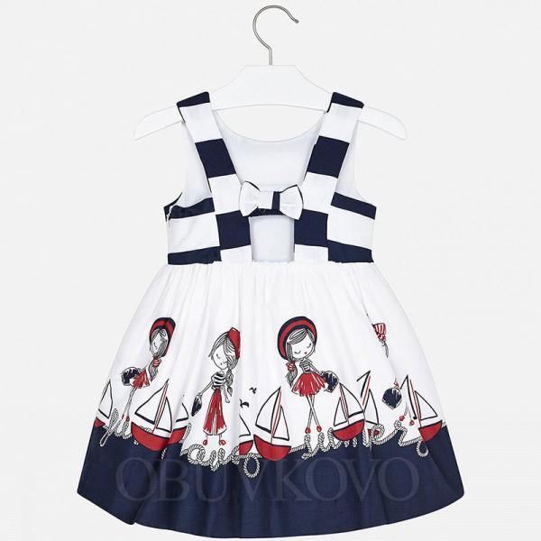 MAYORAL dievčenské šaty 3941-054 Navy