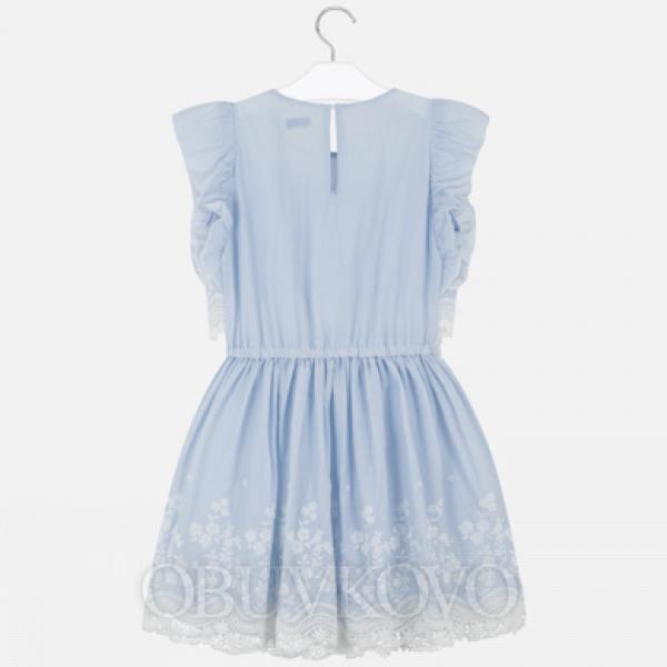 MAYORAL dievčenské vyšívané šaty 6977-042 stripes