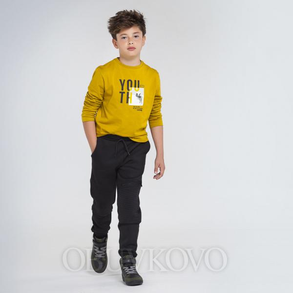 MAYORAL chlapčenské športové nohavice-tepláky 7525-041 black
