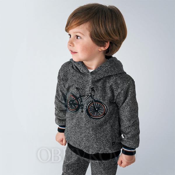 MAYORAL chlapčenská mikina 4460-030 gray