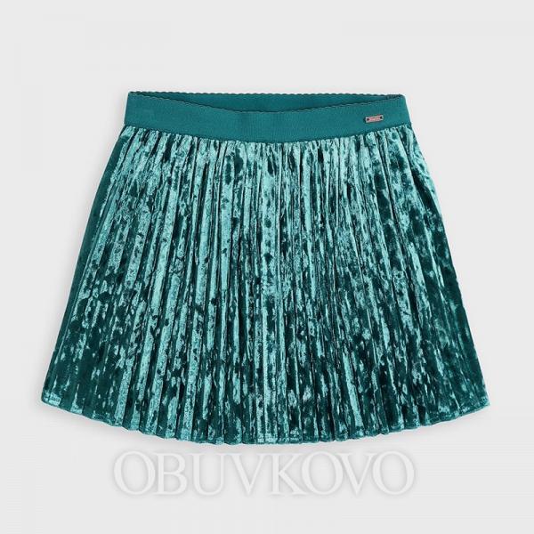 MAYORAL tyrkysová skladaná sukňa 4955-064