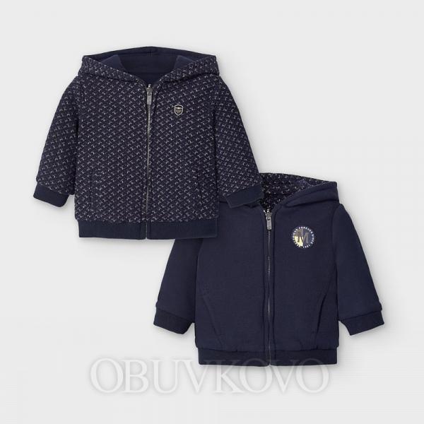 MAYORAL obojstrannná mikina kabátik 2493-042 blue
