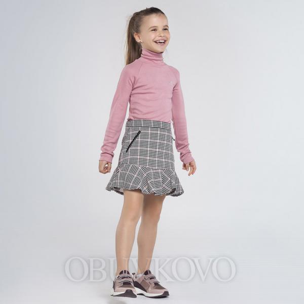 MAYORAL kockovaná sukňa 7947-095 black