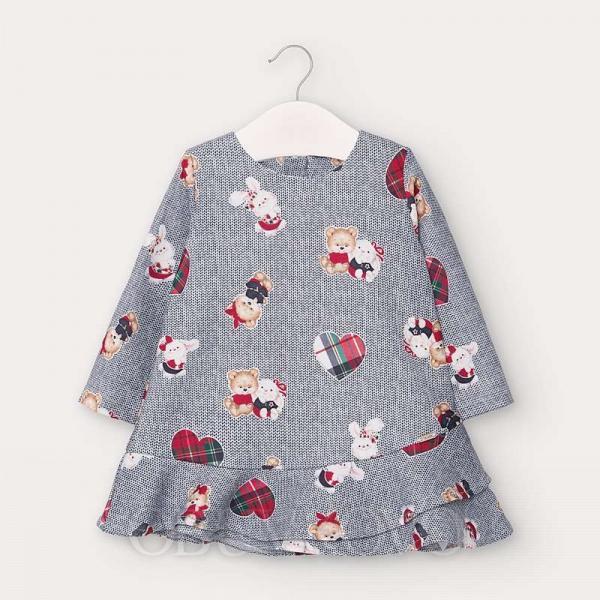 MAYORAL dievčenské šaty bielomodré 2963-028