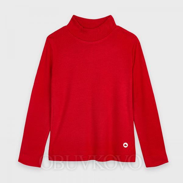 MAYORAL dievčenský bavlnený rolák 136-085 red