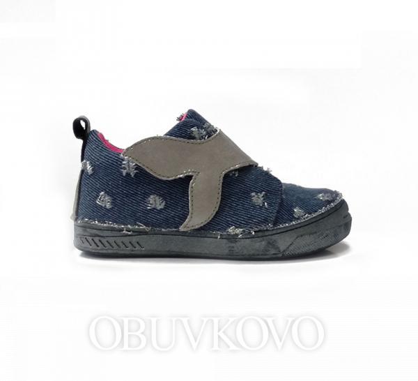 D.D.STEP dievčenská plátená obuv 040-460M bermuda bl