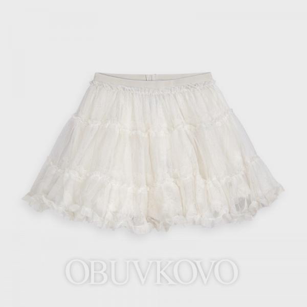 MAYORAL tylová sukňa s perleťou 4953-096 beige