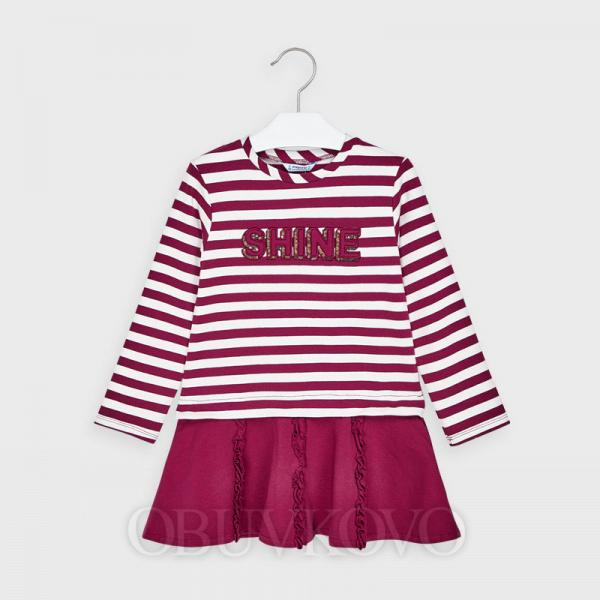 MAYORAL bavlnené dievčenské šaty 4985-036 cherry