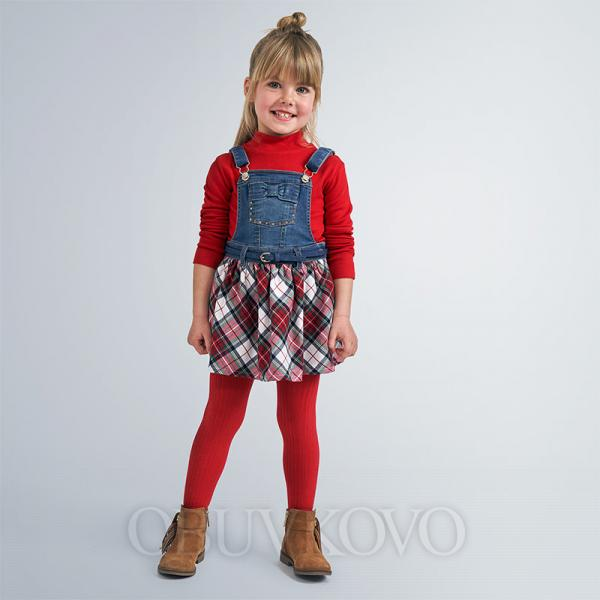 MAYORAL rifľová sukňa na traky 4960-065 red