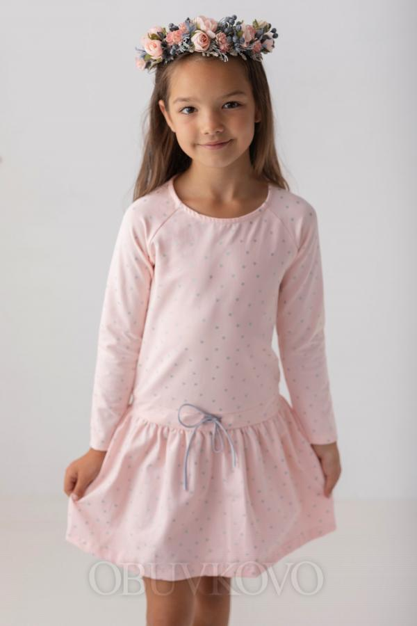 Dievčenské šaty tunika s bodkami